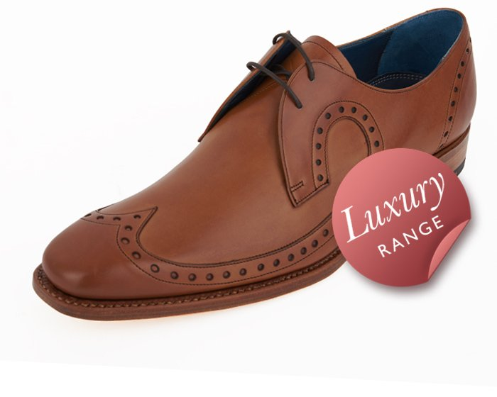d10c9d3beb451 Barker 'Woody' Tan Formal Men's Shoes with Wingtip + shoe horn, laces and  care towel | Dobell