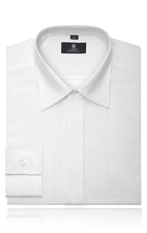 Boys-Standard-Collar-Plain-Fly-Front-Dress-Shirt-by-Alexander-Dobell